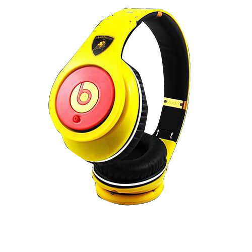 Beats by dre Lamborghini Studio Headphones Yellow with Red