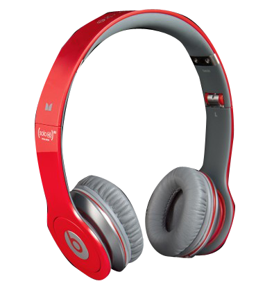 Beats Solo HD with ControlTalk by Dr Dre Headphones Red